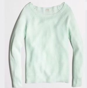 M J. Crew Factory Warmspun Waffle Knit Sweater